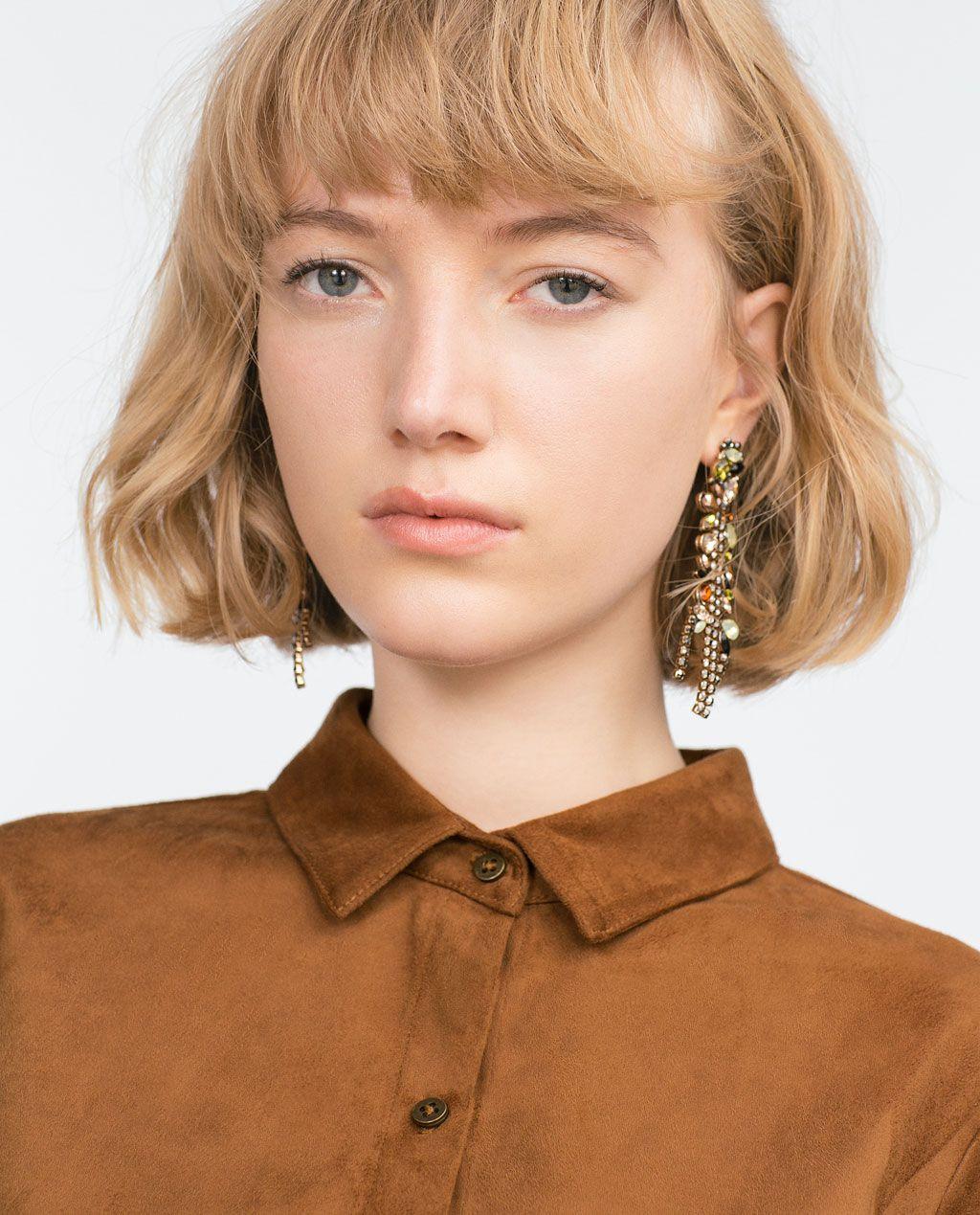 Image 4 of LONG JEWELLED EARRINGS from Zara | fashion ...