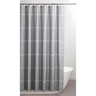 Landon 71 X 84 Shower Curtain In Grey White Long Shower