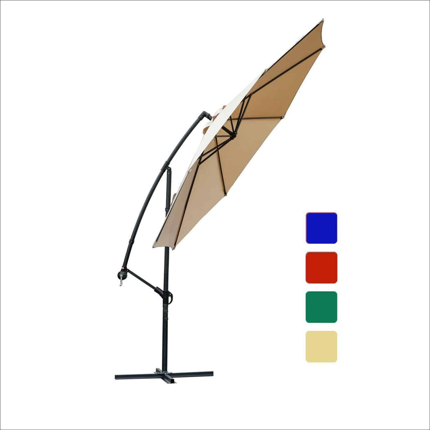 Offset Umbrella 10 Feet Cantilever Patio Umbrella, Beige