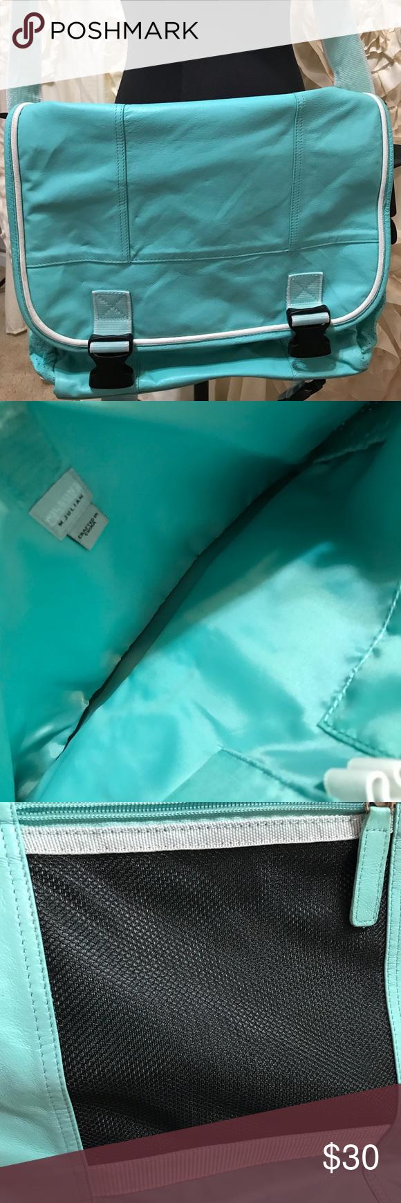 NWOT Wilson's Leather Bag 💼 16x11 Turquoise NWOT Wilson's