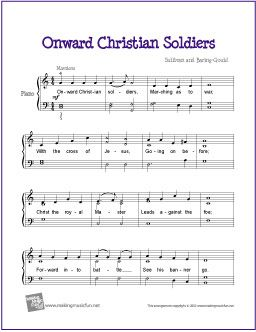 Onward Christian Soldiers With Images Piano Sheet Music Free