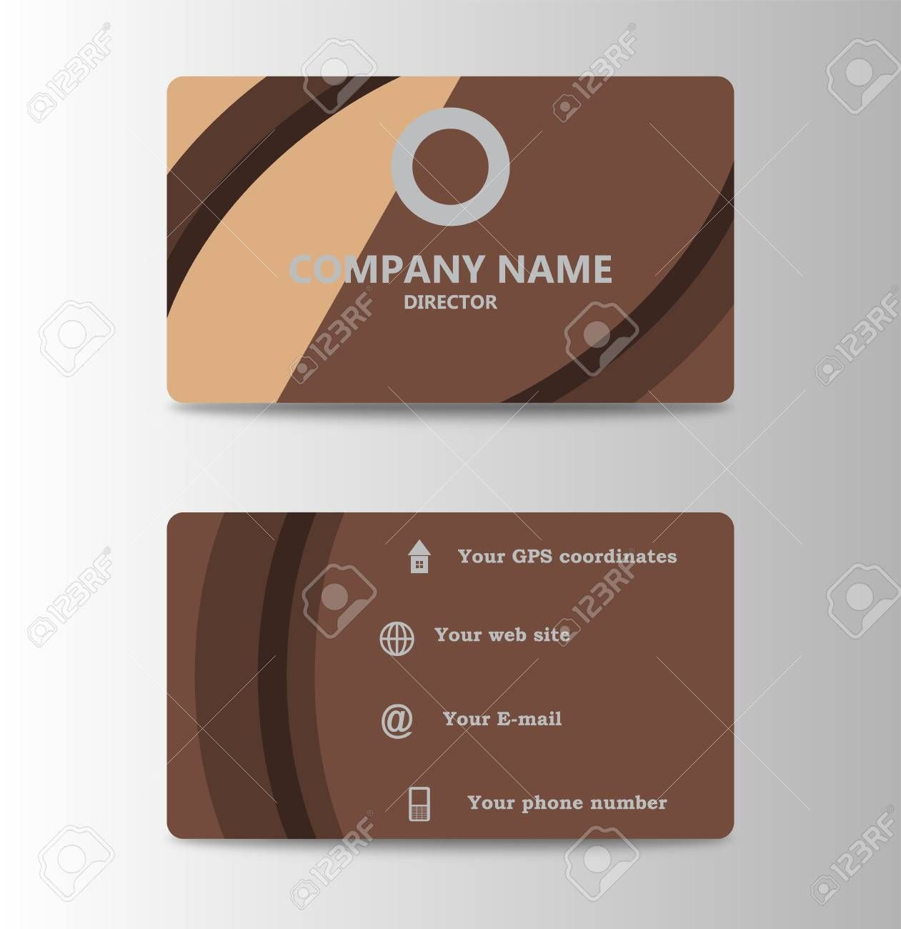 Corporate Id Card Design Template Personal Id Card For Business Intended For Personal Identification Card Template Corporate Id Card Template Card Design