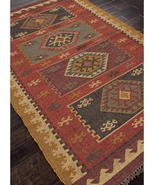 Jaipur Bedouin Amman Flat Weave Tribal Pattern Hemp Jute Handmade Rug Area Rugs At