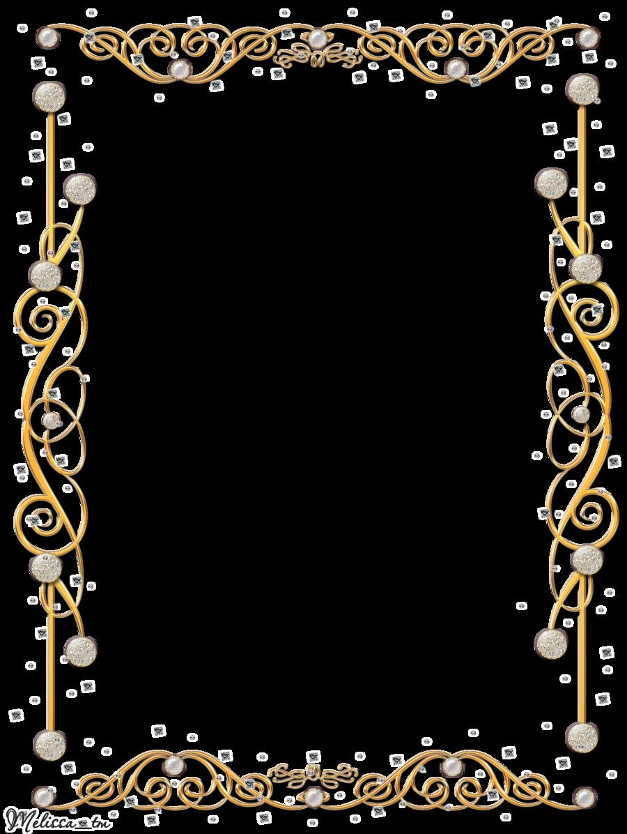 Golden Frame With Gems Png By Melissa Tmdeviantart On DeviantART