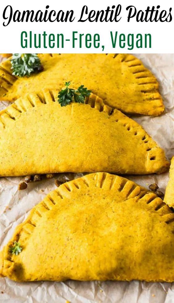 jamaican lentil patties glutenfree vegan in 2020  lentil patty vegan recipes gluten free