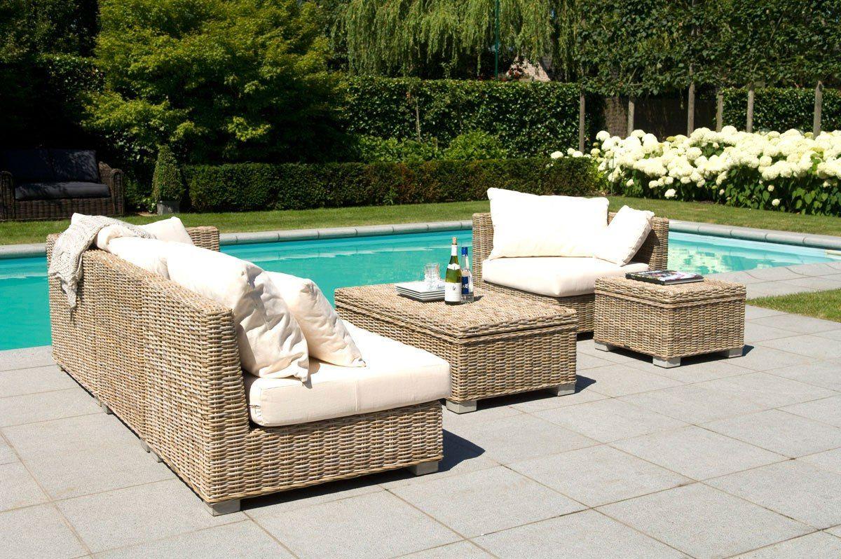 Meubles De Jardin Salon De Jardin Blanc Canape De Jardin En Rotin ...