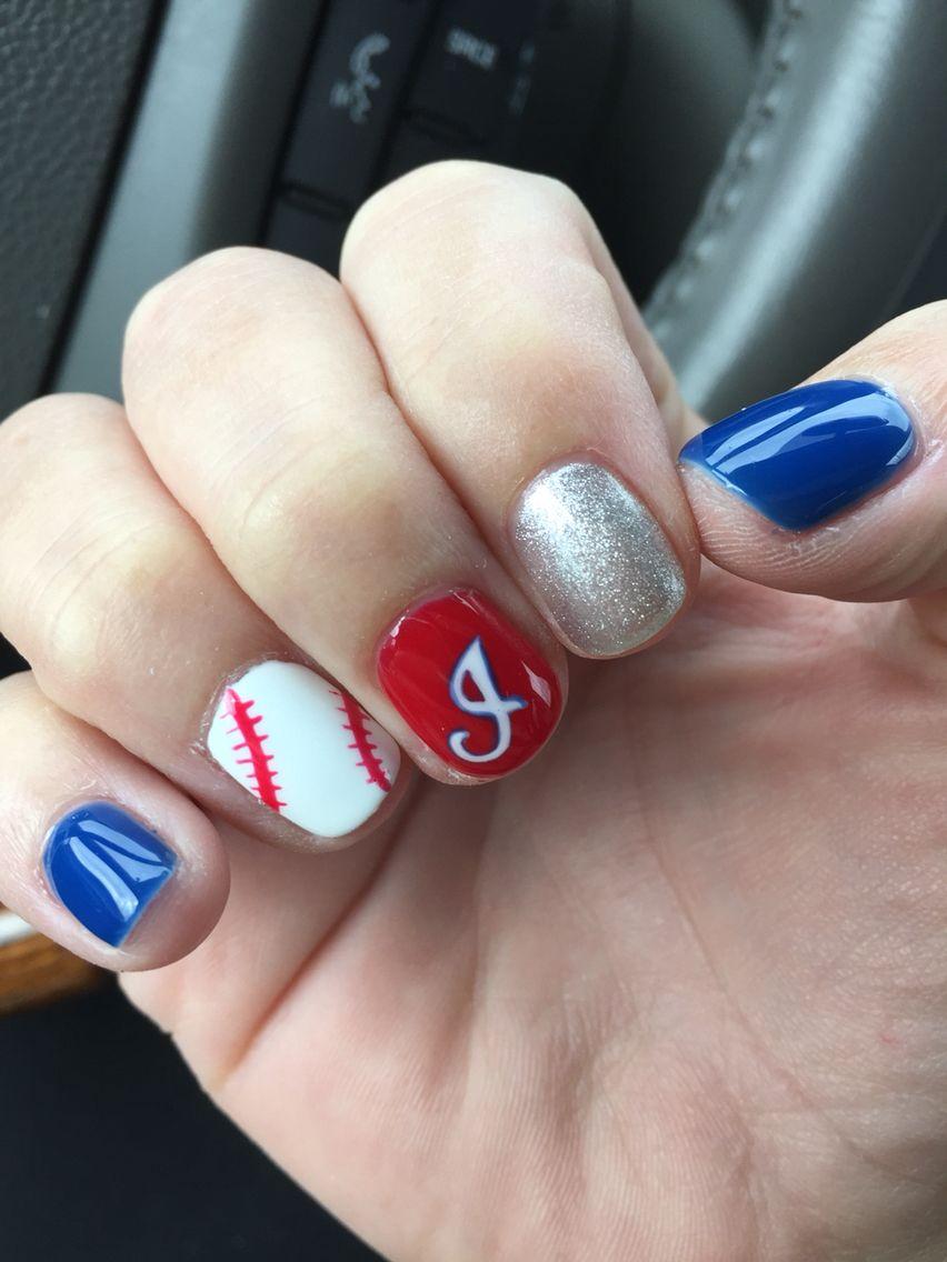 Cleveland Indians nail art. Postseason manicure. Tribe nail design ...