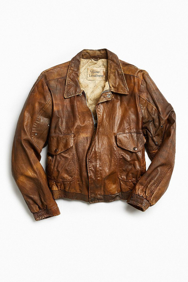 Vintage Gino Leather Jacket - Urban Outfitters