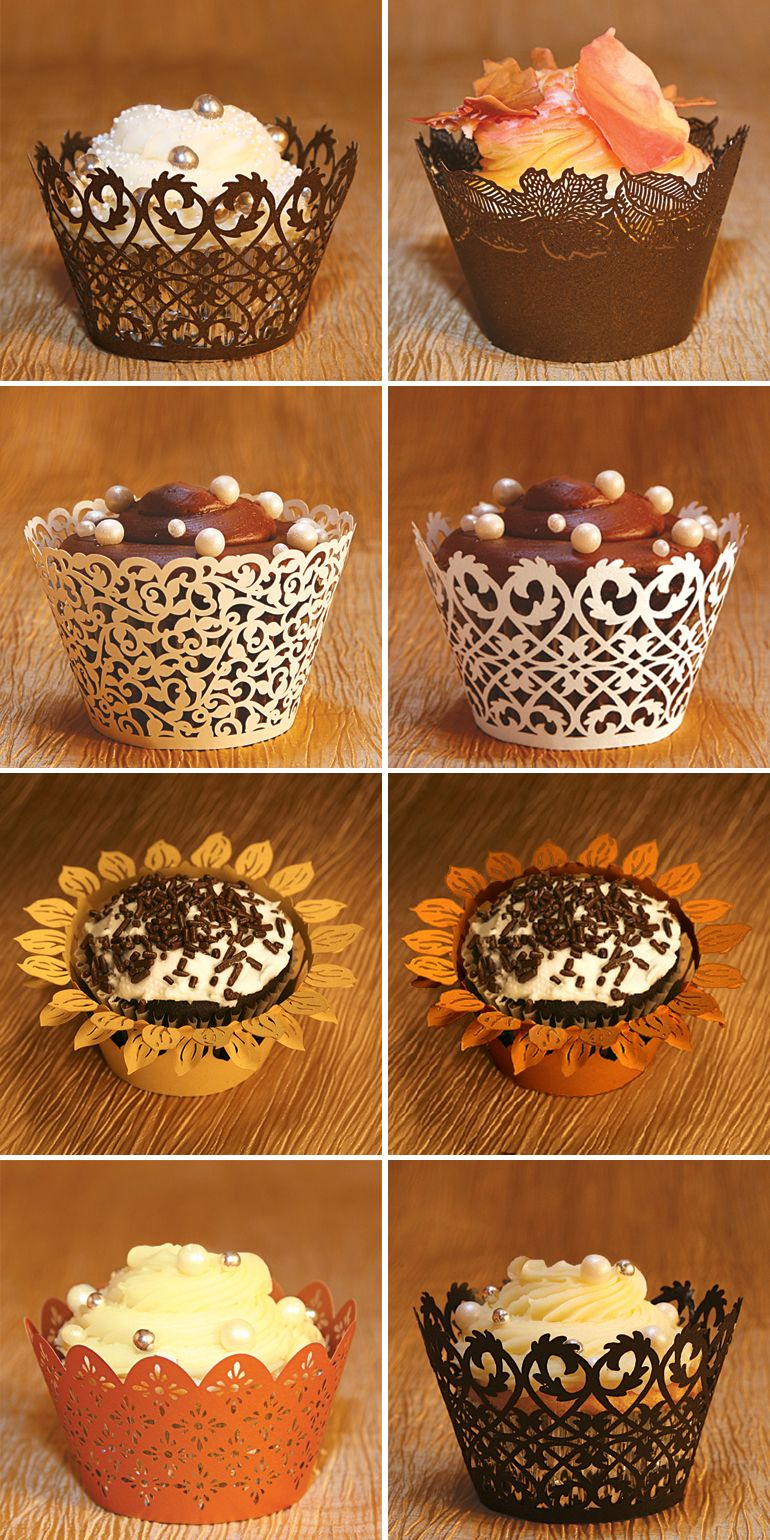 fall wedding food ideas | Fall Wedding Favor Cupcake Wrappers and Liners