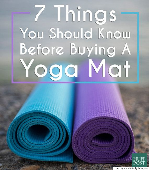 Here are the 7 things you should know before buying a yoga mat