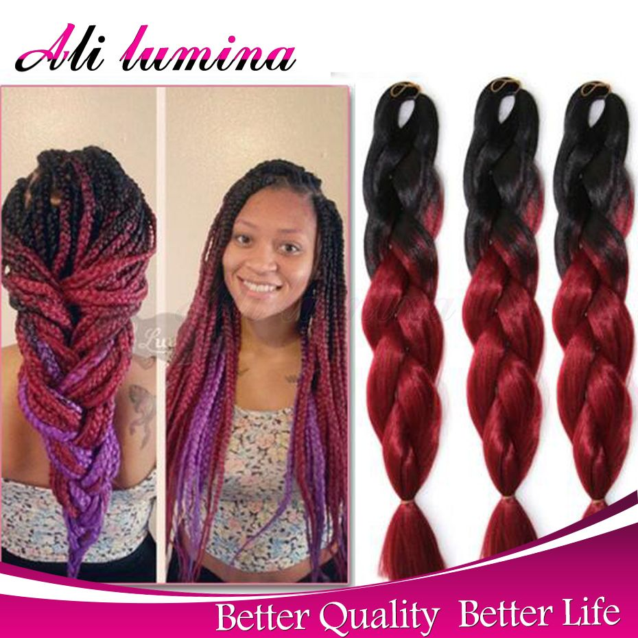 Bulk Xpressions Kanekalon Braiding Hair Colors 2 ...