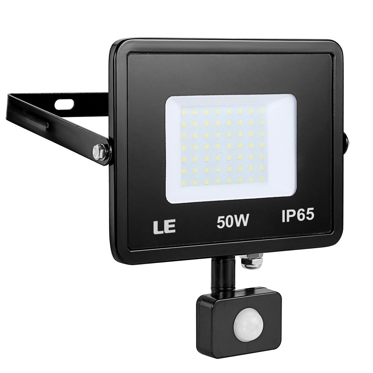 Outdoor Led Motion Lights Alluring Le 50W Motion Sensor Flood Light 4000Lm Outdoor Led Flood Lights Design Ideas