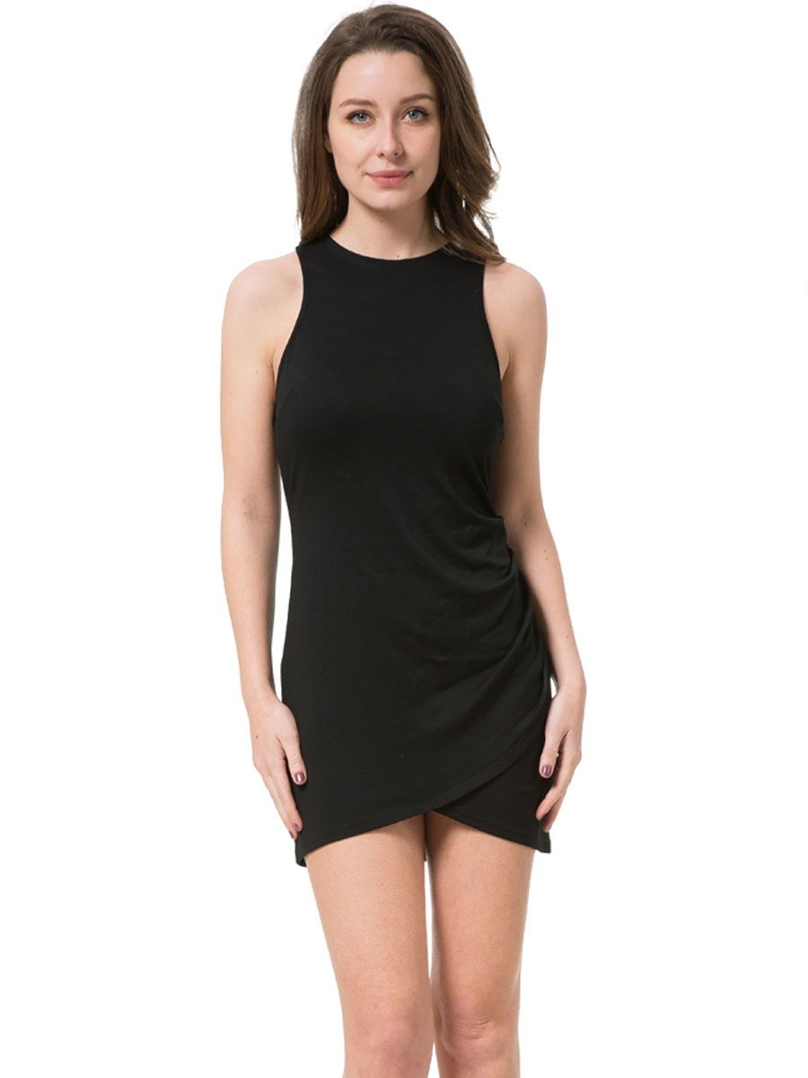 Buy Women s Sheath Dress Solid Color O Neck Sleeveless Dress   Regular  Dresses - at Jolly Chic 1d33aa267