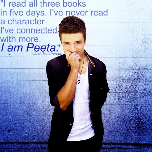 """...Which is what brought me around to Josh's side after originally seeing him and thinking, """"No way. That is not my Peeta. No."""""""