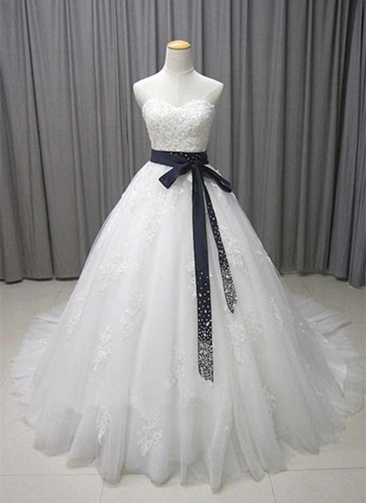 white lace simple a line wedding dress formal prom dress from