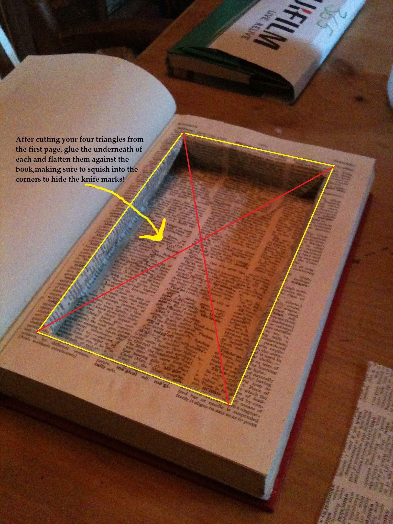 Diy Book Safe Old Book Crafts Book Safe Recycled Books