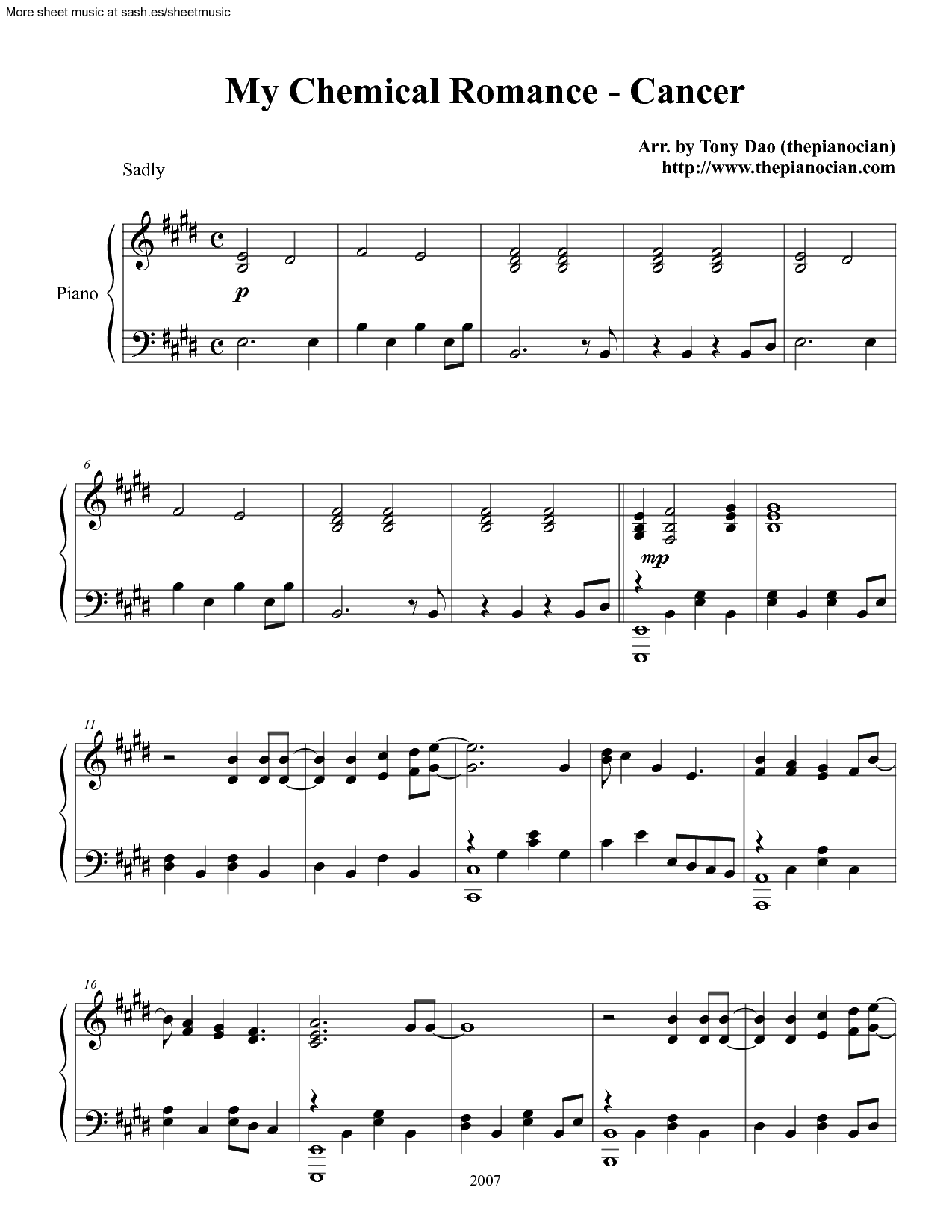 My Chemical Romance Clarinet Sheet Music Google Search Music