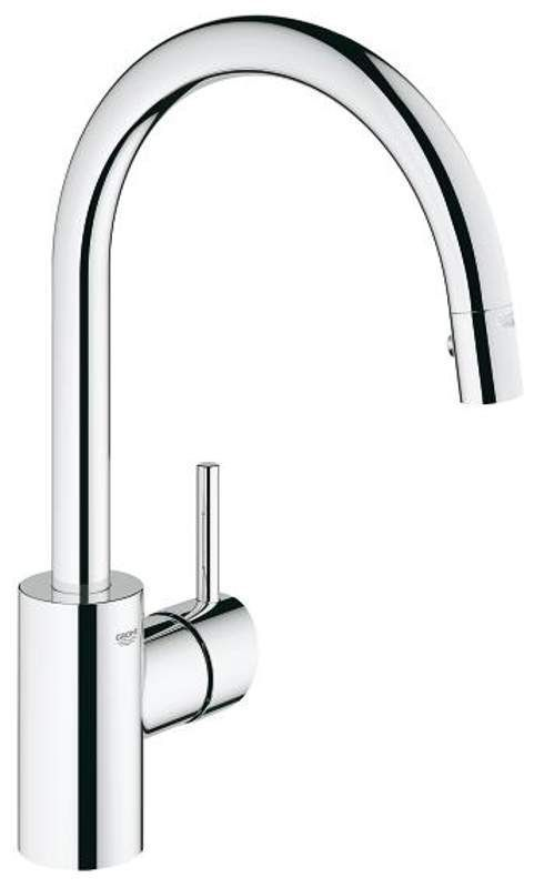 View The Grohe 32 665 Concetto Pull Down High Arc Kitchen Faucet With 2 Function Locking Sprayer Grohe Kitchen Faucet Kitchen Faucet Kitchen Faucets Pull Down