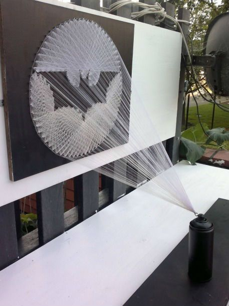 bat signal string art