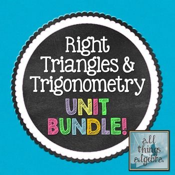 Right Triangles and Trigonometry (Geometry Curriculum - Unit