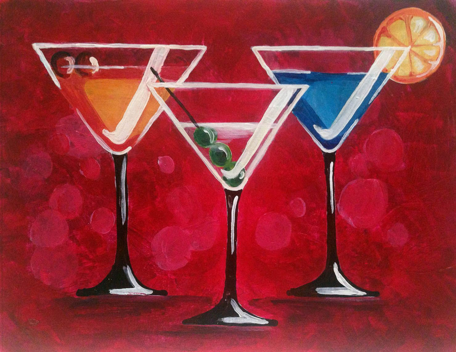 Learn How To Paint Martinis Anyone Part Of The Paint Nite Library Created By Divinity Chan Vancouver Artist Canvas Art Painting Learn To Paint Paint Nite