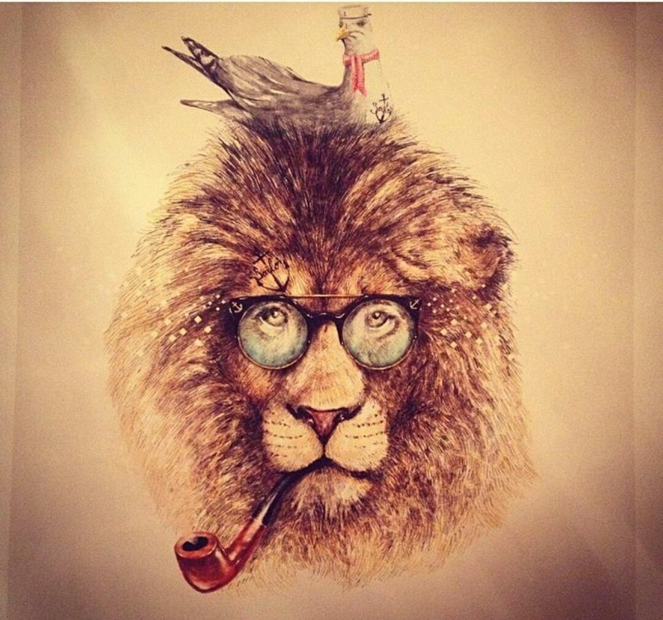 Hipster Lion By JensLadeviantart On DeviantArt