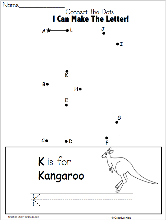 Free Letter K Writing And Dot To Dot For Kindergarten And Preschool