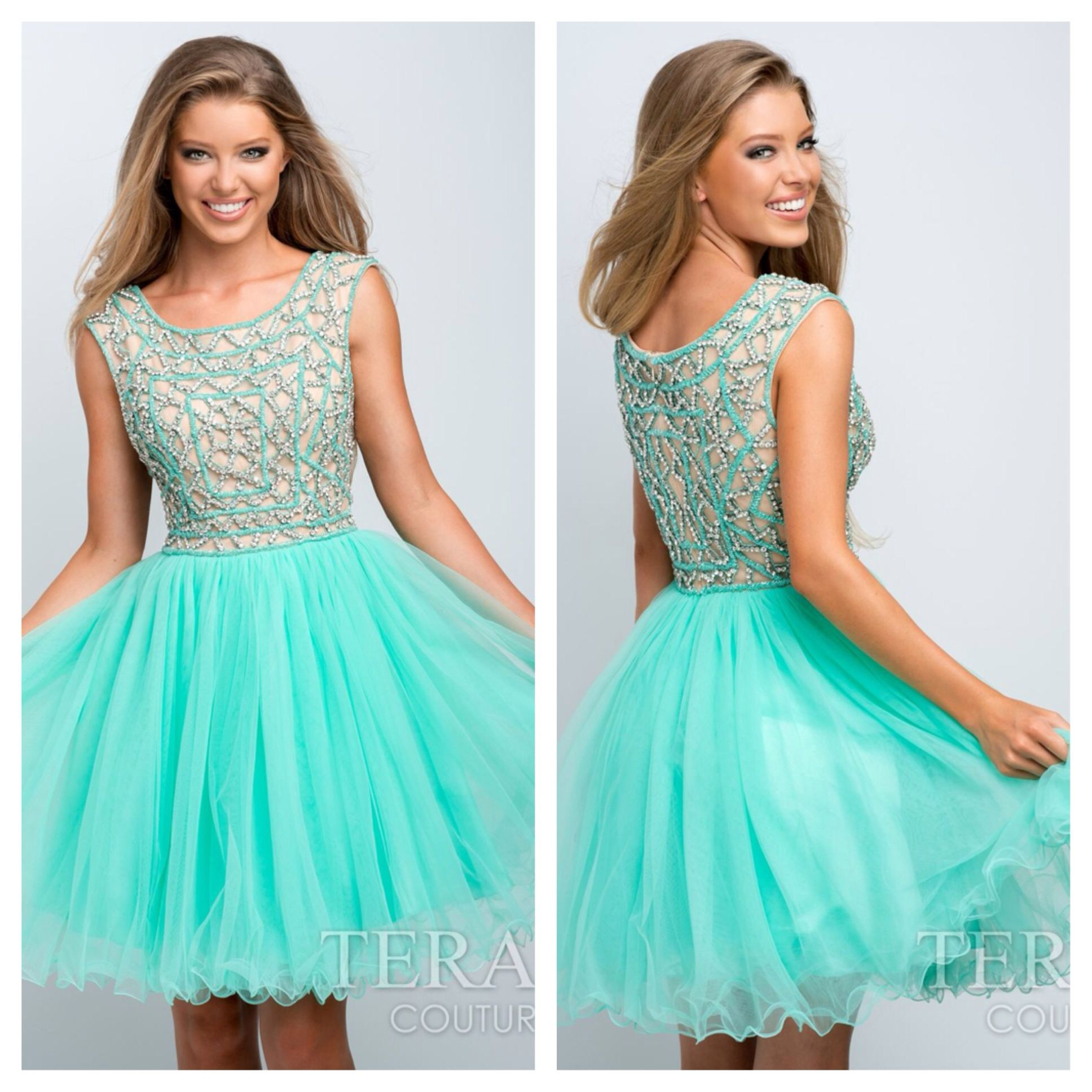 How cute is this dress?! Terani 151P0014 for $605. Available in Mint ...