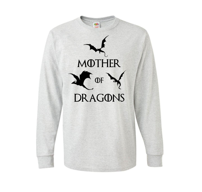 Mother Of Dragons Fruit of the Loom sweatshirt gray; S M L size, Daenerys Khaleesi House Targaryen #GameofThrones #statement sweater jumper #FictionAlive #Etsy 24.99$