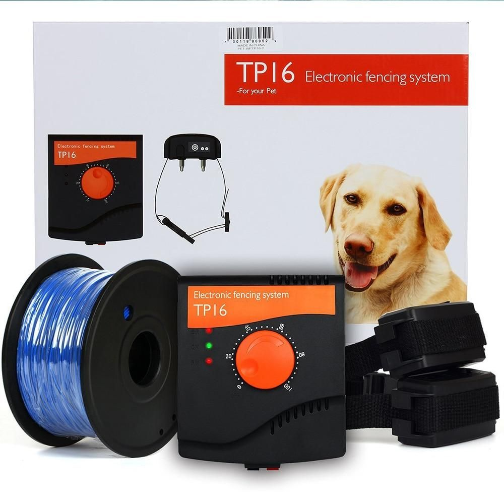 Tp16 Pet Dog Electric Fence System Rechargeable Waterproof Shock
