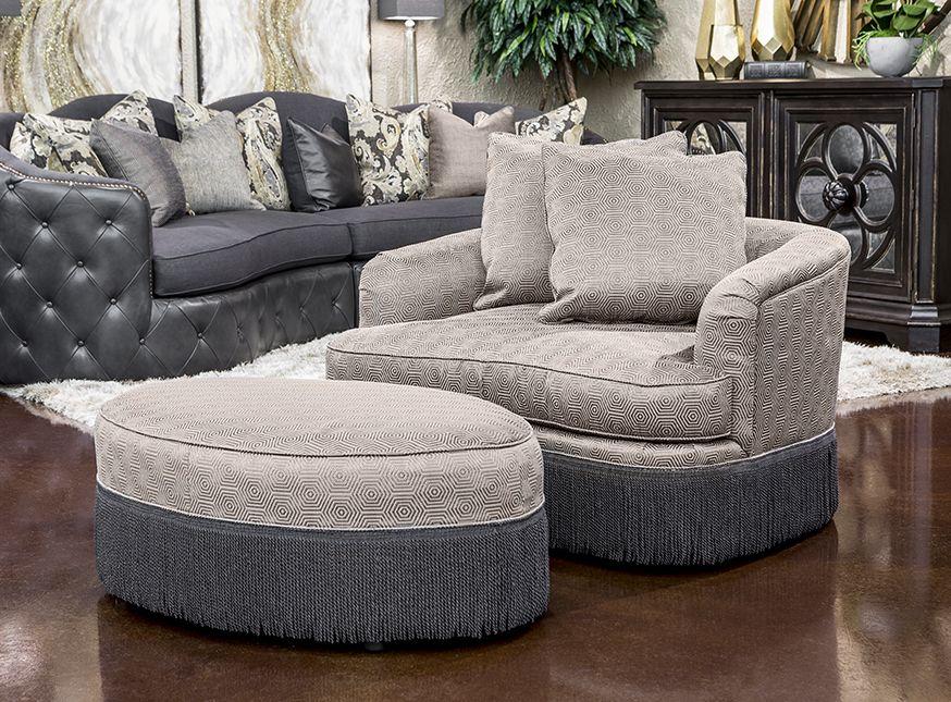 ottoman for living room%0A Hemispheres  A World of Fine Furniture   ChristineEgypt Metal Chair  u      Ottoman