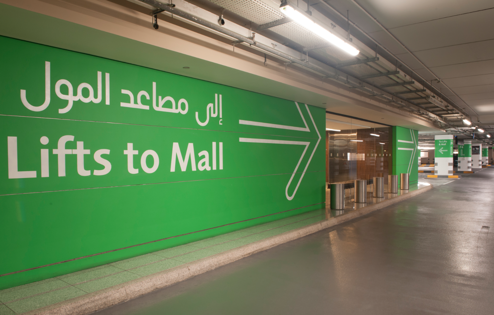 The Dubai Mall Car Parks Wayfinding And Signage Wall Painted
