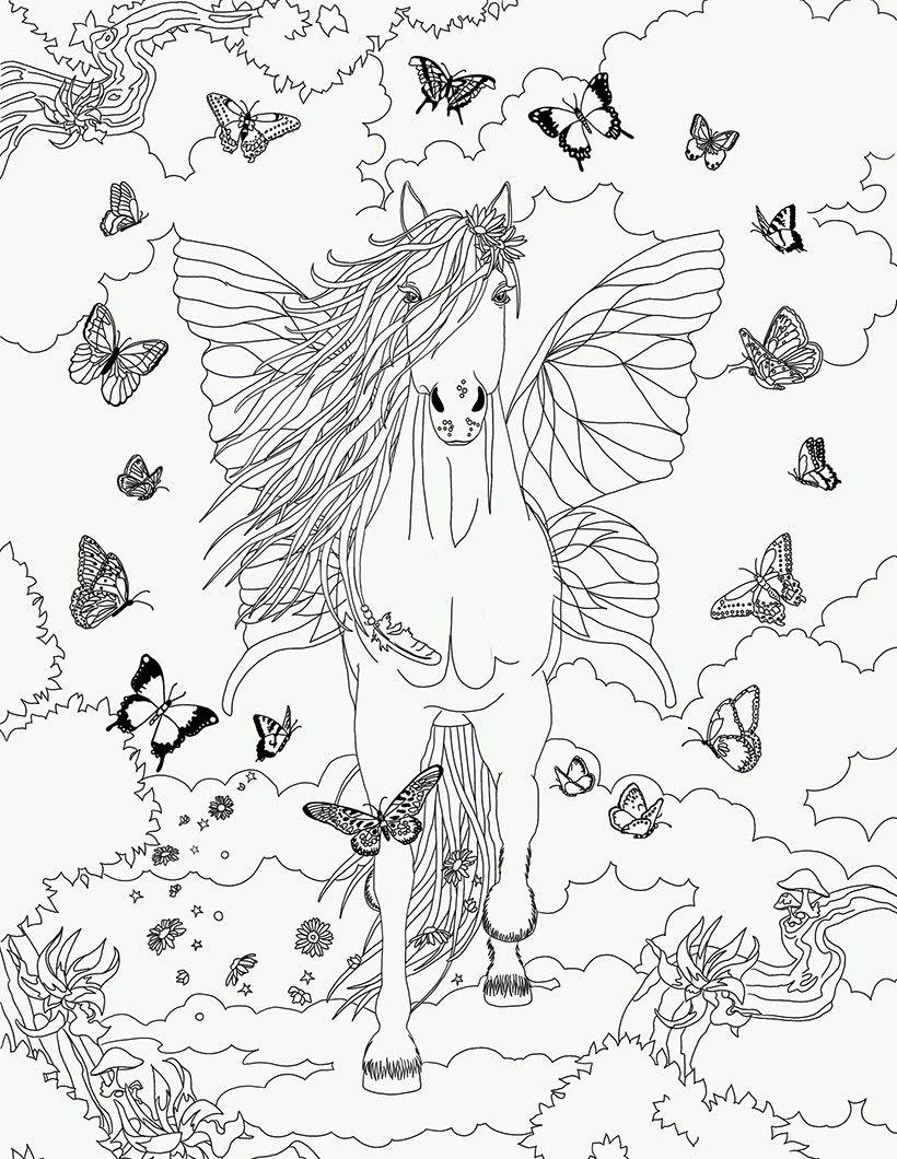 coloriage butterfly dans bella sara kleurplaat paarden