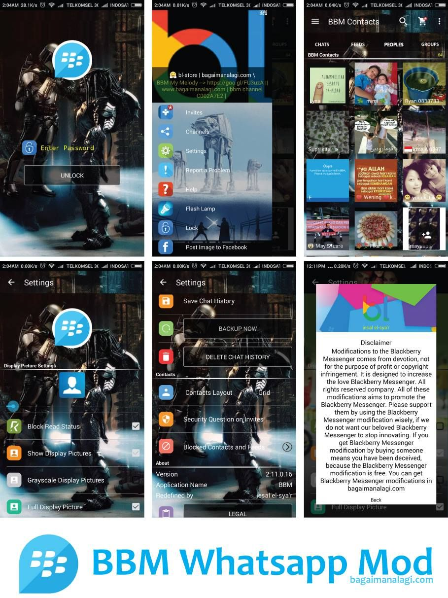 BBM Mod Transparan Versi 30018 Apk Terbaru Untuk Android BBM