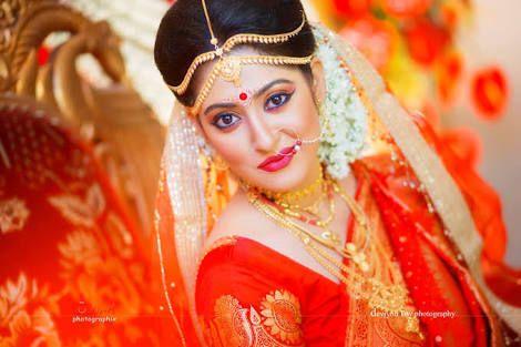 lightwight fancy Bengali wedding veil red - Google Search   wedding