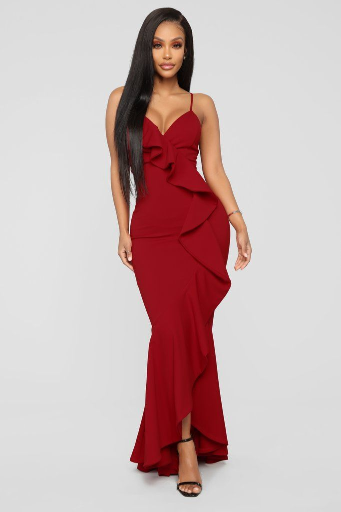 8320a15cece Feel Like Dancing Maxi Dress - Red Available In Royal And Red Ruffle Maxi  Dress Spaghetti Straps High Low Stretch 95% Polyester 5% Spandex