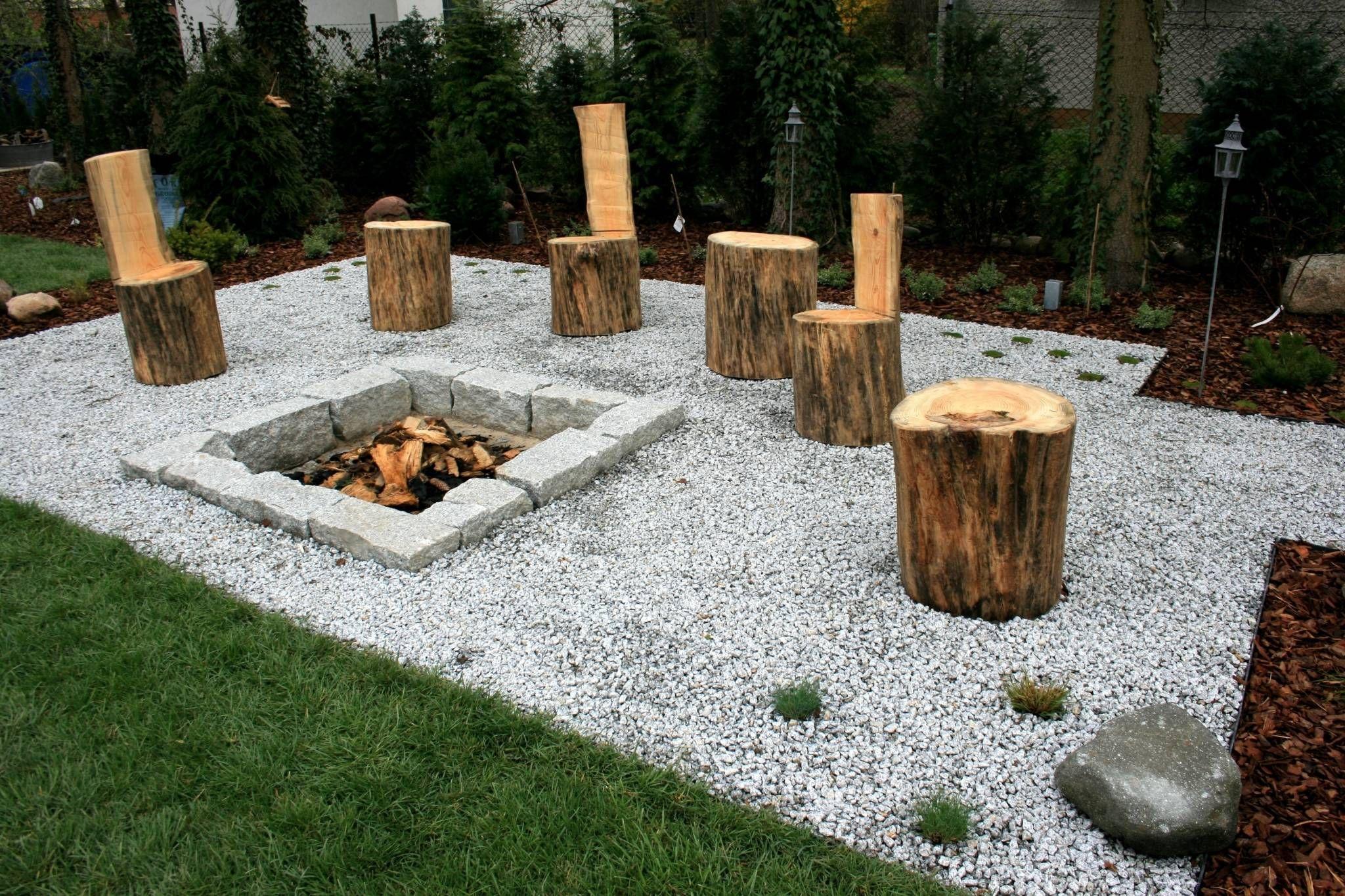 ogr d naturalistyczny z miejscem na ognisko od ogrodowa. Black Bedroom Furniture Sets. Home Design Ideas