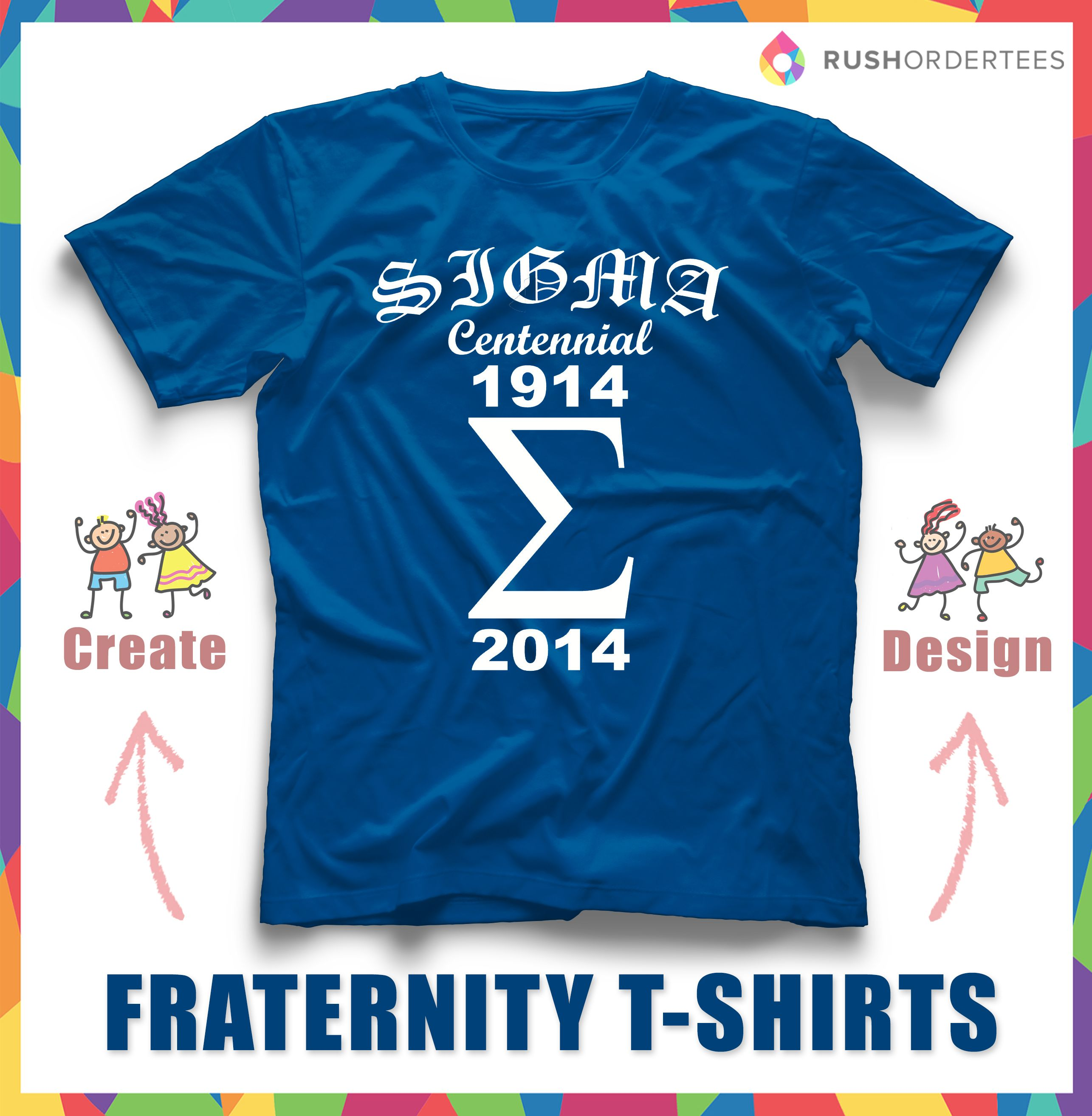 Design Custom Fraternity Shirts Easily! Create Your Frat Design Using Easy  Online T Shirt
