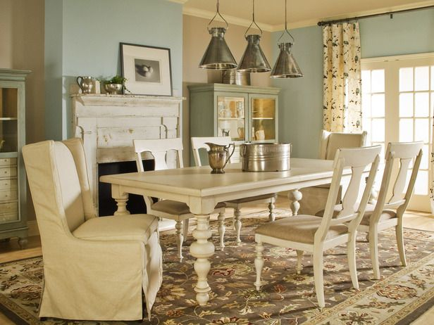 Attrayant Cozy Cottage Style In Spice Up Your Dining Room With Stylish Slipcovers  From HGTV