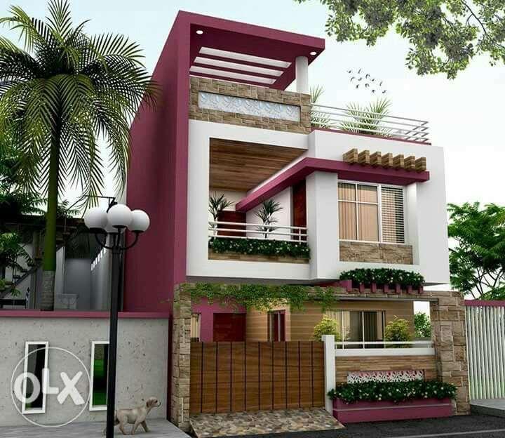 Building elevation house front new home designs modern design houses exterior  also best venkatesan images in plans rh pinterest