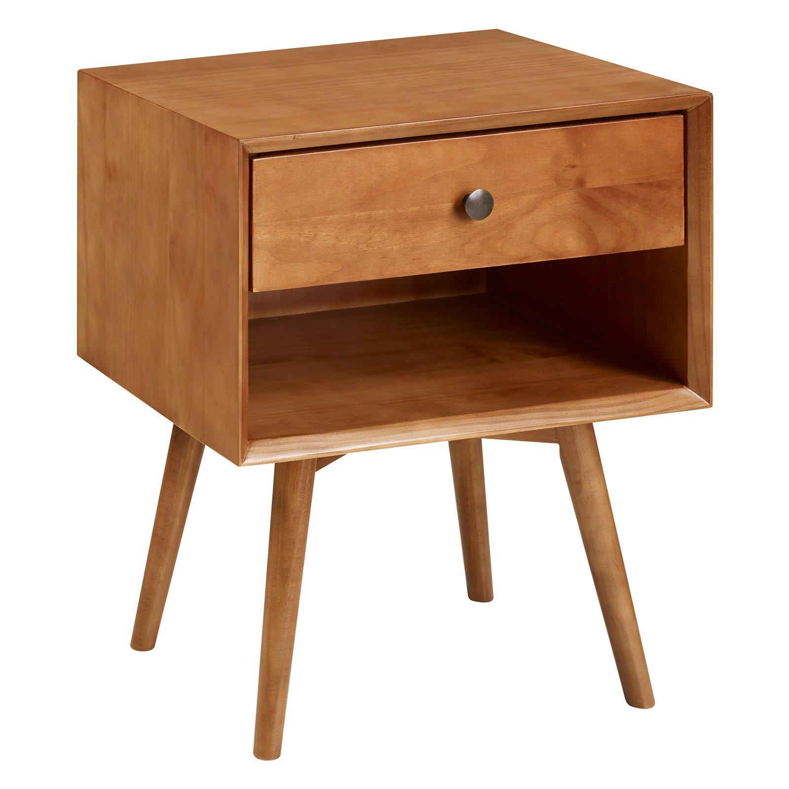 Best Manor Park Mid Century 1 Drawer Solid Wood Nightstand 400 x 300