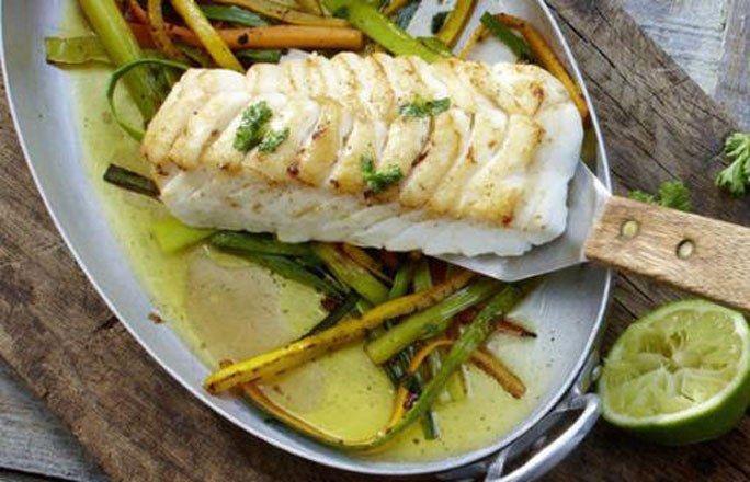 Kabeljau auf Ingwer-Pfannengemüse - Kohlenhydratfreie Rezepte für die Low carb Diät