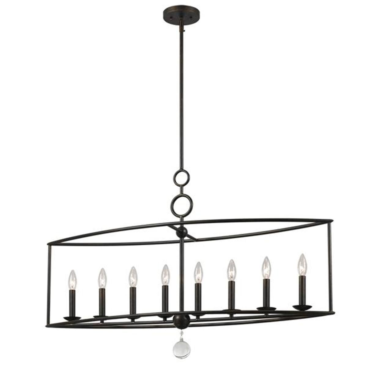 Modern cage wrought iron linear chandelier linear chandelier modern cage wrought iron linear chandelier arubaitofo Images