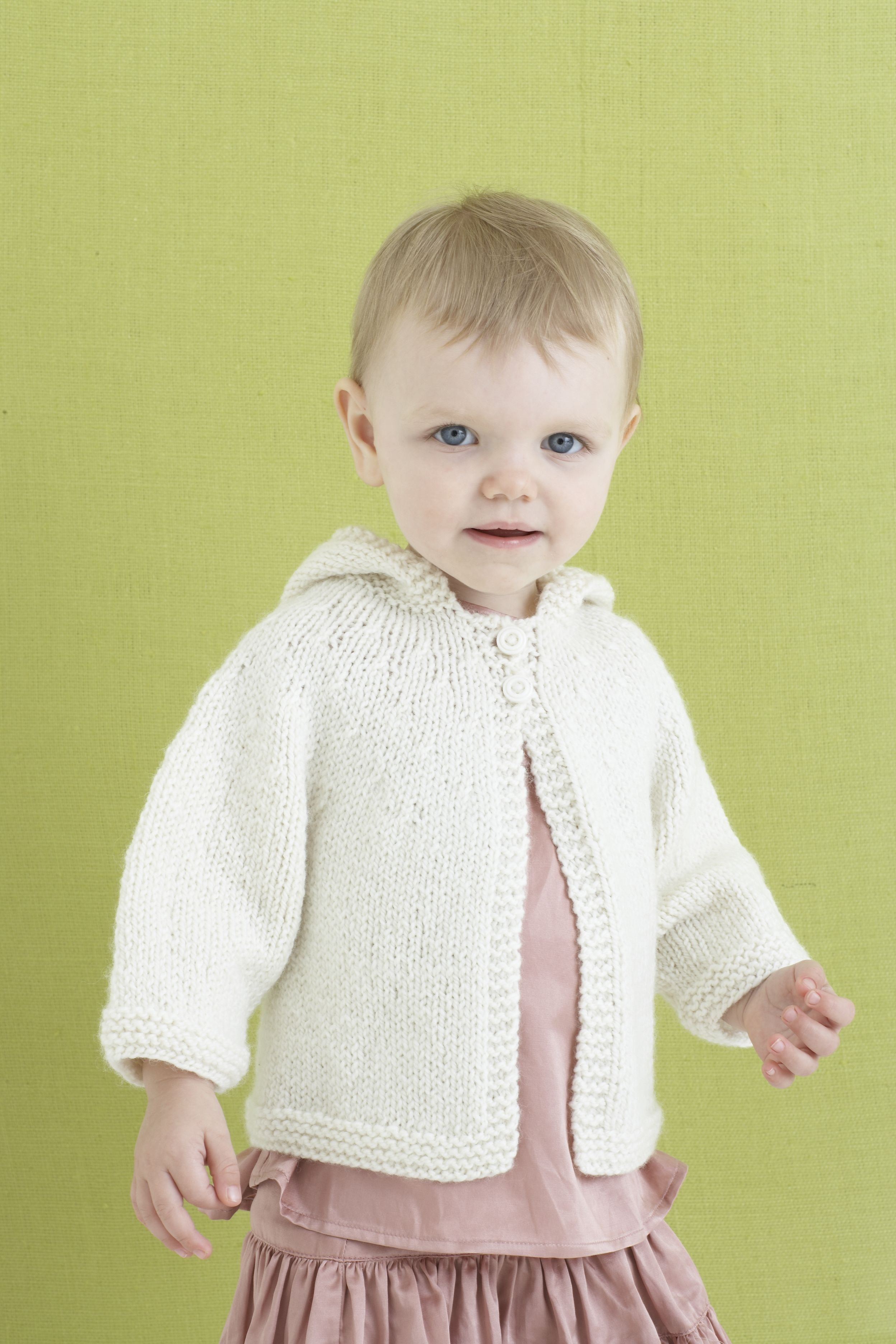 Babette Baby Coat Pattern (Knit) - Lion Brand Yarn | baby knits ...