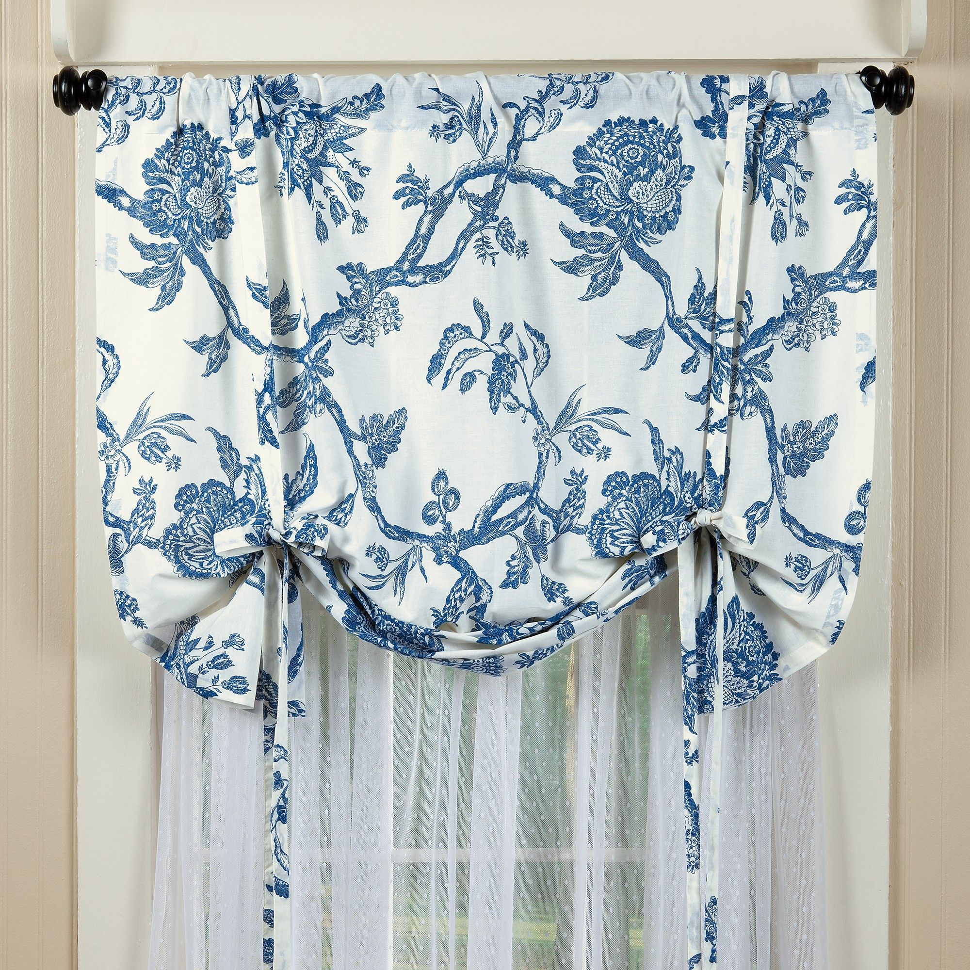 Blue Topiary Tie Up Valance Sturbridge Yankee Workshop Tie Up Valance Valance Tie Up Curtains