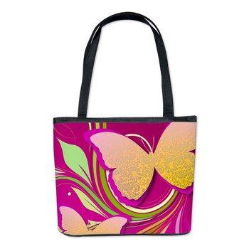 #Butterfly Swirl Bucket Bag $73