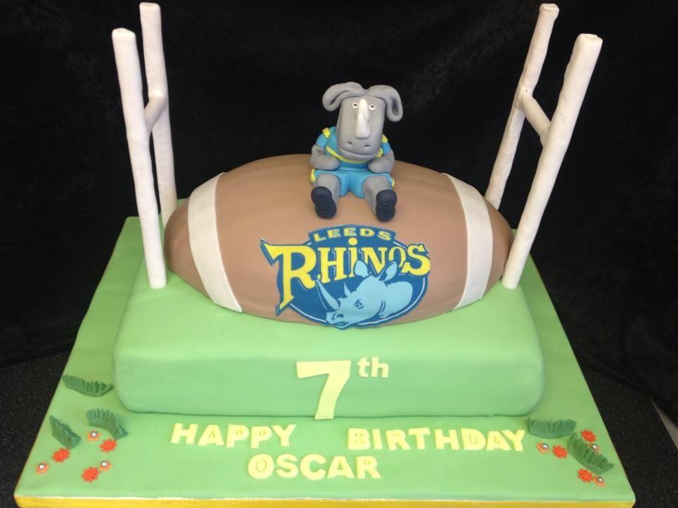 7th birthday cake Jordy 10kg Pinterest Leeds rhinos Birthday