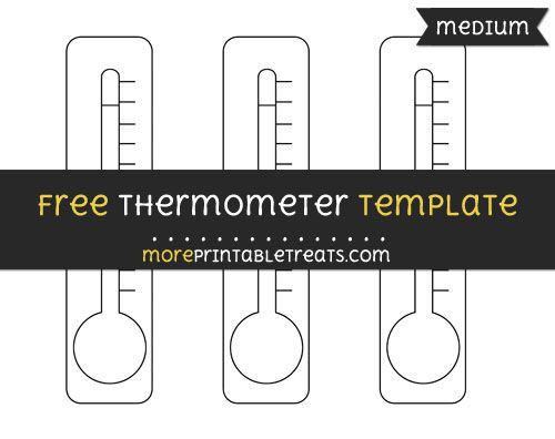 Free Thermometer Template  Medium  Shapes And Templates