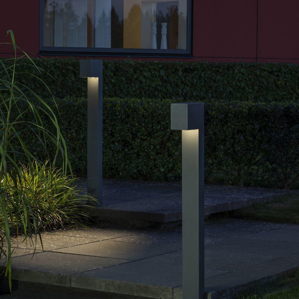 LED Wegeleuchte Cremona aus Aluminium in Anthrazit
