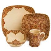 Found it at Wayfair - Spice Road 16 Piece Dinnerware Set